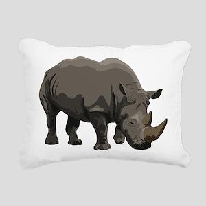 Classic Rhino Rectangular Canvas Pillow