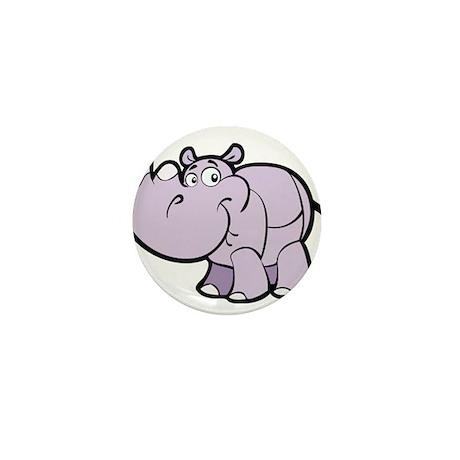 Purple Cartoon Rhino Mini Button (10 pack)