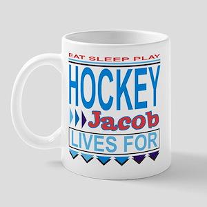 Jacob Lives for Hockey Mug