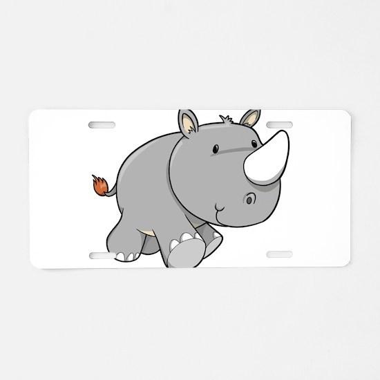 Baby Rhino Aluminum License Plate