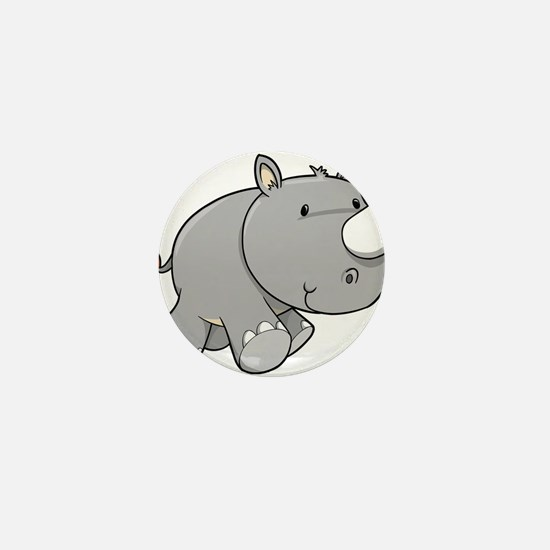 Baby Rhino Mini Button