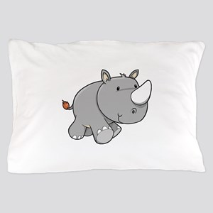 Baby Rhino Pillow Case
