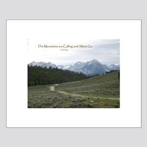 The Mountains are Calling Small Poster