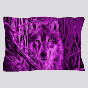 Pink Night Warrior Wolf Pillow Case