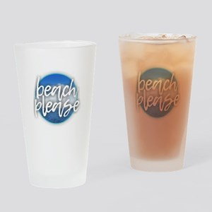 Beach Please Drinking Glass