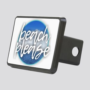 Beach Please Rectangular Hitch Cover