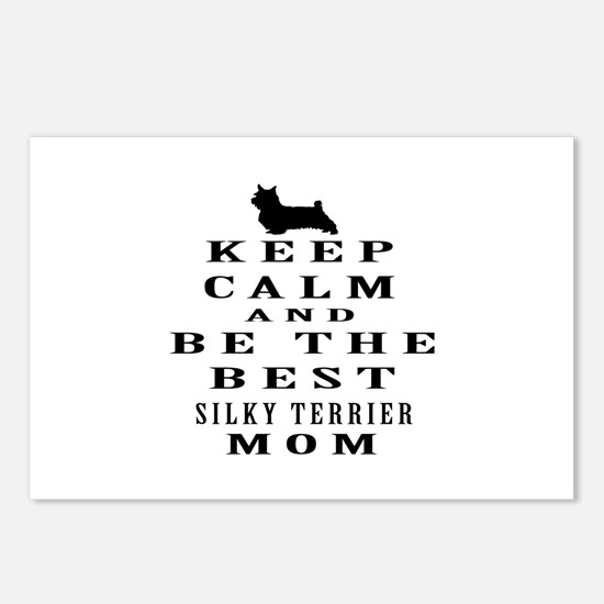 Keep Calm Silky Terrier Designs Postcards (Package