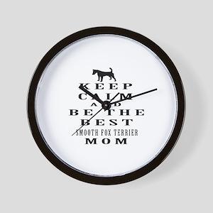 Keep Calm Smooth Fox Terrier Designs Wall Clock