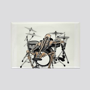 skeleton drummer Rectangle Magnet