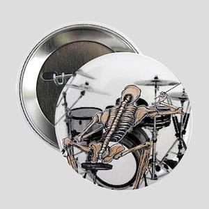 """skeleton drummer 2.25"""" Button"""