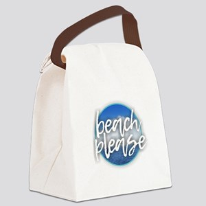 Beach Please Canvas Lunch Bag