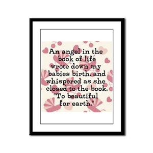 To Beautiful For Earth (Girl) Framed Panel Print