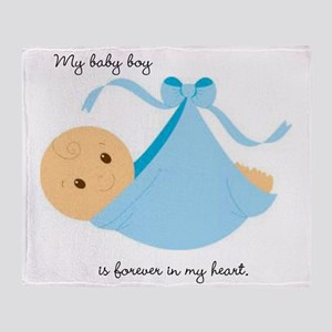 Forever In My Heart (Boy) Throw Blanket