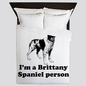 Brittany Spaniel Person Queen Duvet