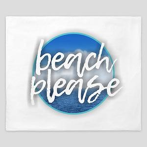 Beach Please King Duvet