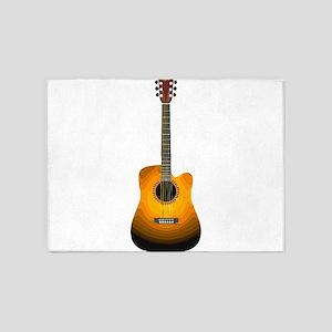 Acoustic Guitar 3 5'x7'Area Rug