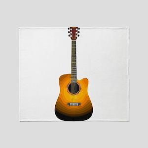 Acoustic Guitar 3 Throw Blanket