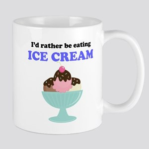 Id Rather Be Eating Ice Cream Small Mug