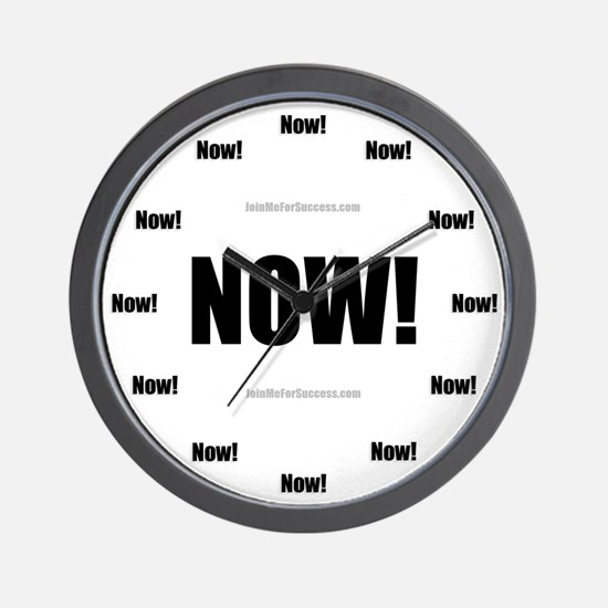 Unique Now now Wall Clock