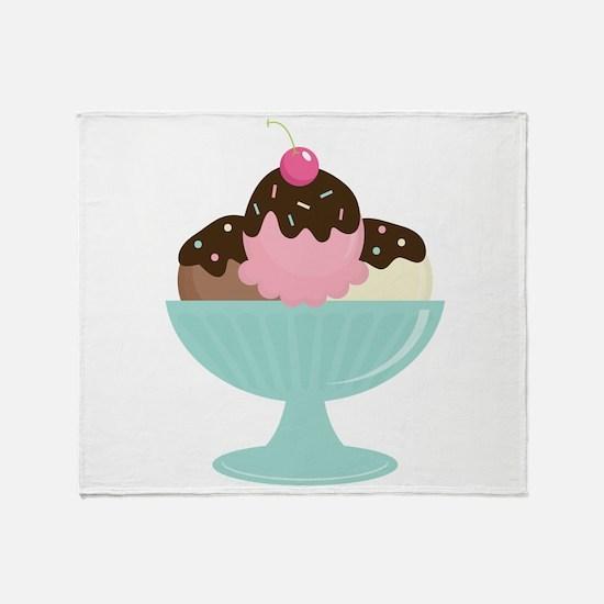 Ice Cream Sundae Throw Blanket