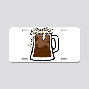 Root Beer Float Aluminum License Plate