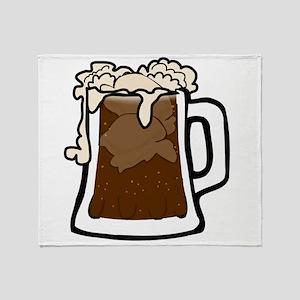 Root Beer Float Throw Blanket