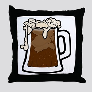 Root Beer Float Throw Pillow
