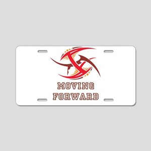 Moving Forward Aluminum License Plate