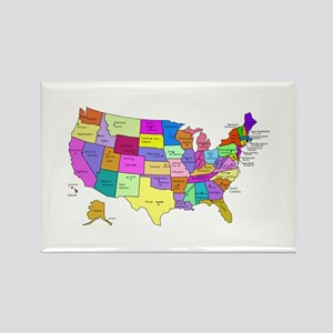 United States and Capital Cities Rectangle Magnet