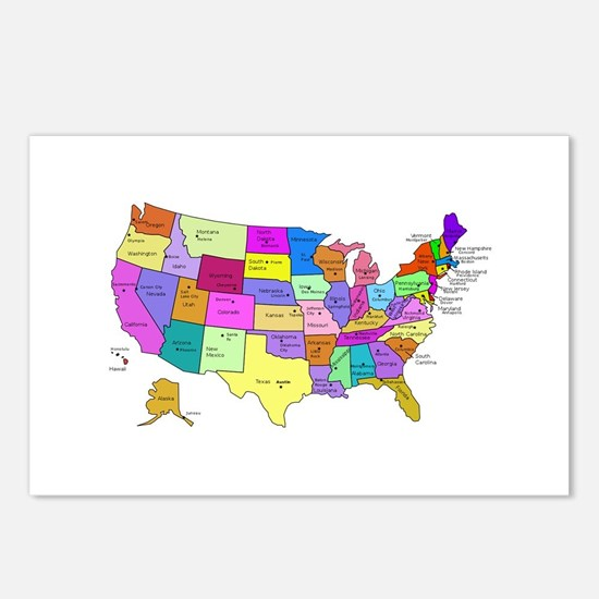 United States and Capital Cities Postcards (Packag