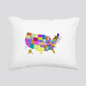 United States and Capital Cities Rectangular Canva