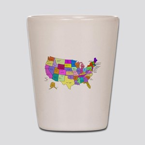 United States and Capital Cities Shot Glass