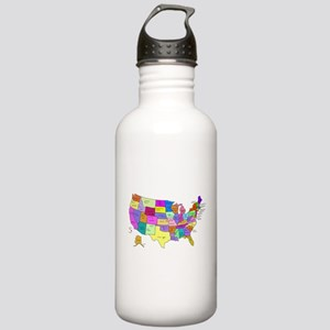 United States and Capital Cities Water Bottle