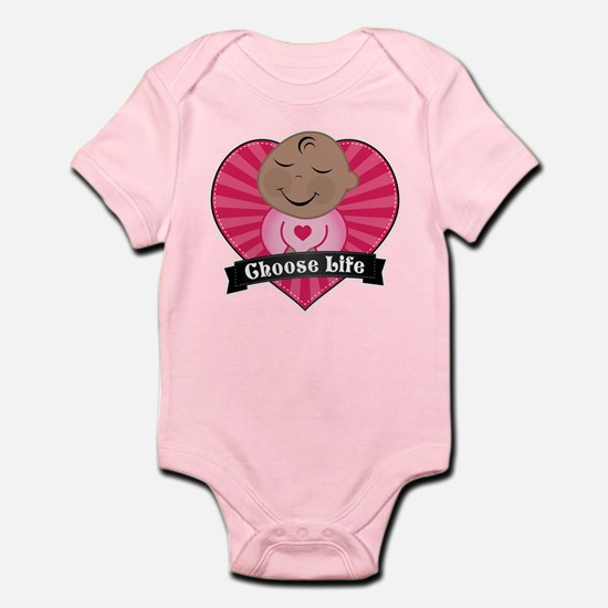 Choose Life Pink Body Suit