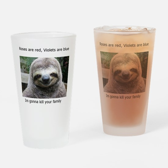 Killer Sloth Drinking Glass