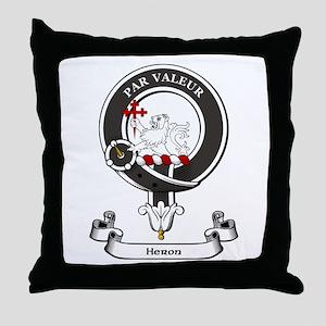 Badge-Heron Throw Pillow
