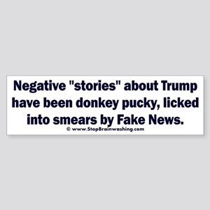 Donkey Pucky Bumper Sticker