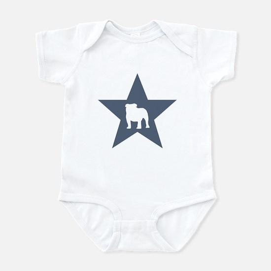 Bulldog Star Infant Bodysuit