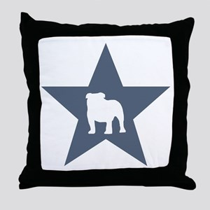 Bulldog Star Throw Pillow