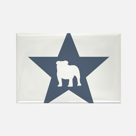 Bulldog Star Rectangle Magnet