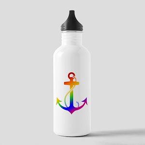 Rainbow Anchor Water Bottle