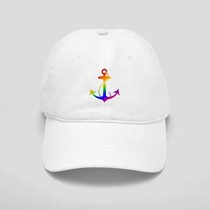 Rainbow Anchor Baseball Cap