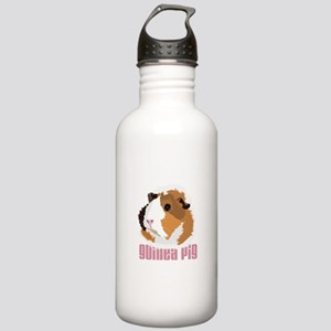 Retro Guinea Pig 'Elsie' (white) Sports Water Bott