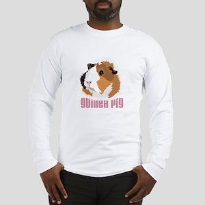 Retro Guinea Pig 'Elsie' (white) Long Sleeve T-Shi