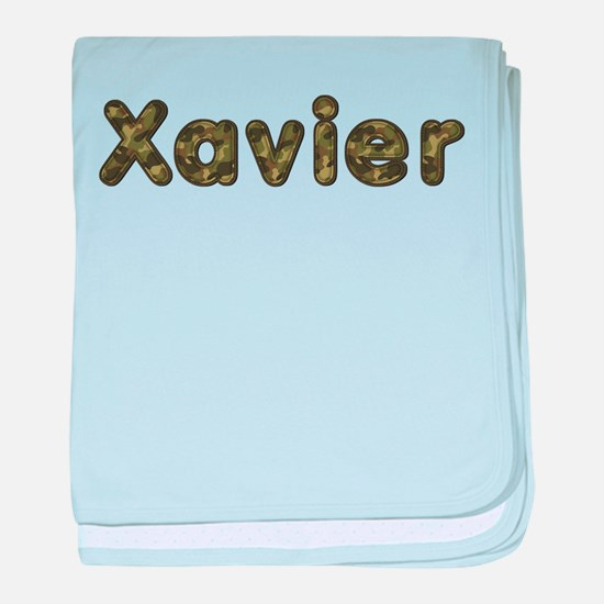 Xavier Army baby blanket