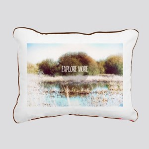 Explore More wilderness Rectangular Canvas Pillow