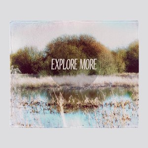 Explore More wilderness Throw Blanket