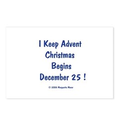 I Keep Advent Postcards (Package of 8)