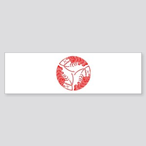 Circle of three spiny lobsters Sticker (Bumper)