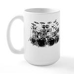 Drum Sketch Large Mug